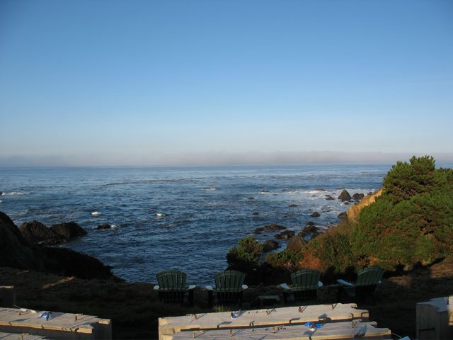 looking at the Pacific from the Colbert DAC-ART coastal home