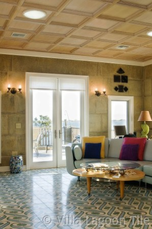 VillaLagoonTile in DAC-ART coastal home