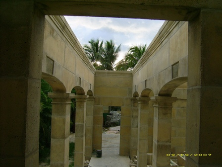 DAC-ART Breezeway under construction Naples FL